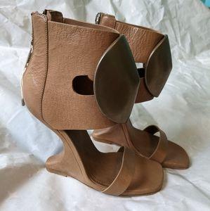 Rick Owens Cutout Leather sandals siz 7 (37) BNWOB